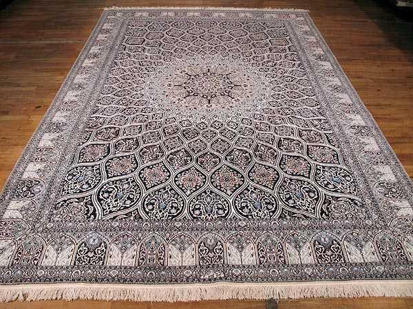Persian Gombad Nain Rug 710 X 113 Fine Carpet SIL1352