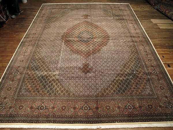 Persian Mahi Tabriz Rug 11 8 X 16 5 Carpet Sil2571