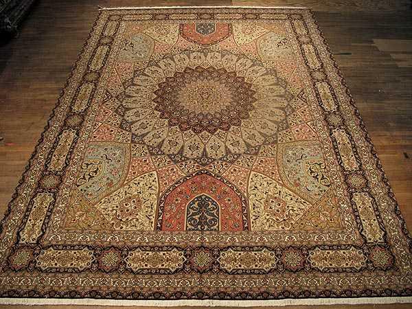 Persian Gonbad Tabriz Carpet 10 0 X 13 4 Tabriz