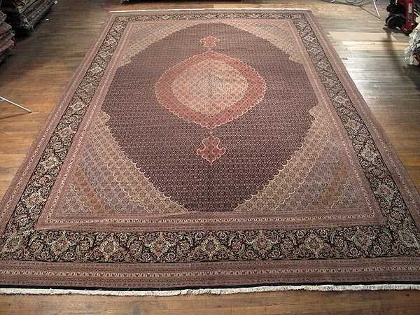 The Size Of This Persian Rug Is Impressive And So Its Borders Main Border S Field Black Background As Well Mahi Design