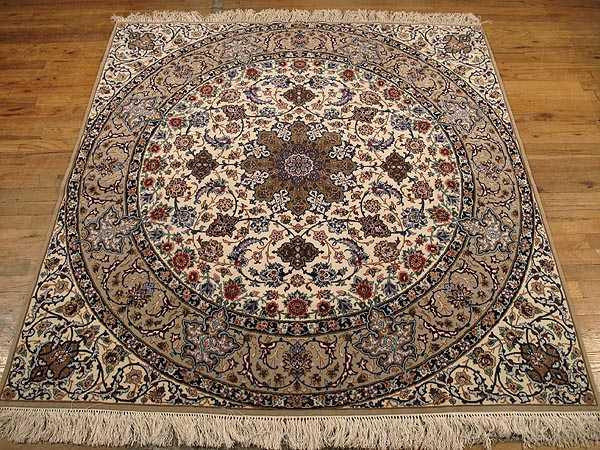 Persian Isfahan Carpet 5 6 X 5 7 Fine Persian
