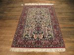 SIL214 4X6 FINE PERSIAN ANIMAL PICTORIAL ISFAHAN RUG