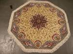 SIL1522 3X3 ROUND PERSIAN QUOM RUG