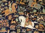 hunting scene persian rug pure silk carpet