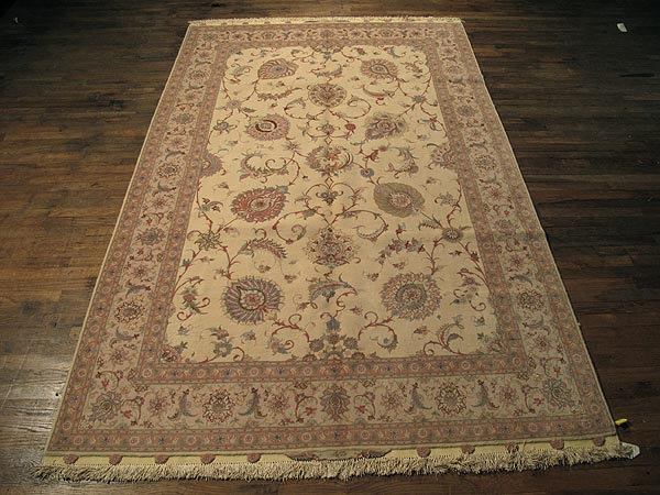SIL253 6X9 FINE PERSIAN TABRIZ RUG SILK FOUNDATION