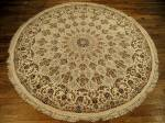SIL1829 7X7 ROUND PERSIAN GONBAD ISFAHAN RUG