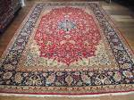 SIL1850 13X19 OVERSIZE PERSIAN ISFAHAN RUG