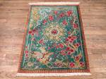 SIL1956 2X3 PURE SILK PERSIAN PICTORIAL QUOM RUG