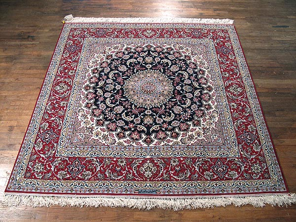 SIL269 7X7 FINE PERSIAN ISFAHAN SQUARE RUG