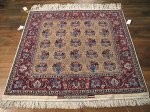 SIL330 4X5 FINE PERSIAN SQUARE ISFAHAN RUG