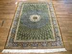 SIL2719 5X6 PERSIAN SILK QUOM RUG