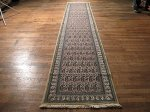 SIL431 3X13 FINE PERSIAN QUOM RUNNER RUG