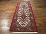 SIL441 3X7 FINE PERSIAN QUOM RUNNER RUG