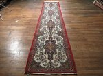 SIL444 3X13 FINE PERSIAN QUOM RUNNER RUG