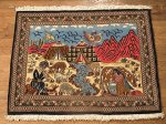 SIL476 2X3 FINE PERSIAN PICTORIAL QUOM RUG