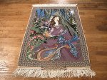 SIL478 2X3 FINE PERSIAN PICTORIAL ISFAHAN RUG