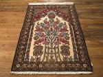 SIL486 3X4 FINE PERSIAN QUOM RUG