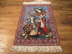 SIL492 2X4 FINE PERSIAN PICTORIAL ISFAHAN RUG