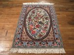SIL493 3X4 FINE PERSIAN PICTORIAL ISFAHAN RUG