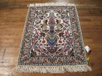 SIL504 3X3 FINE PERSIAN SQUARE ISFAHAN RUG