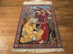 SIL505 2X4 FINE PERSIAN PICTORIAL ISFAHAN RUG