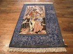SIL506 3X5 FINE PERSIAN PICTORIAL ISFAHAN RUG