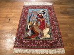 SIL507 3X4 FINE PERSIAN PICTORIAL ISFAHAN RUG