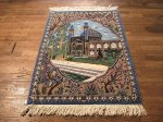 SIL508 3X4 FINE PERSIAN PICTORIAL ISFAHAN RUG