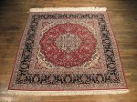 SIL140 7X7 FINE SQUARE PERSIAN ISFAHAN RUG