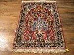 SIL638 3X3 FINE PERSIAN SQUARE ISFAHAN RUG