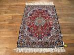 SIL686 3X3 FINE PERSIAN SQUARE ISFAHAN RUG