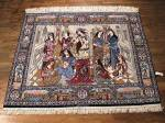 SIL730 6X7 FINE PERSIAN PICTORIAL ISFAHAN RUG