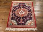 SIL852 2X3 PURE SILK PERSIAN QUOM RUG