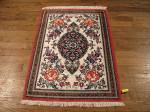 SIL862 2X3 PURE SILK PERSIAN QUOM RUG