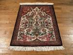 SIL863 2X3 PURE SILK PERSIAN QUOM RUG
