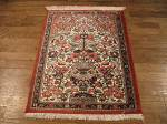 SIL871 2X3 FINE PURE SILK PERSIAN QUOM RUG
