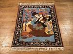SIL883 2X2 FINE PERSIAN SQUARE ISFAHAN RUG