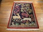 SIL914 2X3 PERSIAN PICTORIAL QUOM RUG