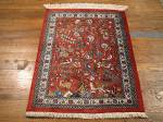 SIL921 2X3 PERSIAN PICTORIAL QUOM RUG