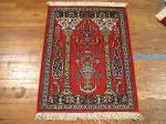 SIL922 2X3 PERSIAN PICTORIAL QUOM RUG
