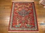 SIL924 2X3 PERSIAN PICTORIAL QUOM RUG