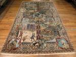 SIL1075 6X10 ANTIQUE PERSIAN PICTORIAL TABRIZ RUG