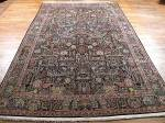 SIL1095 7X11 PERSIAN PICTORIAL QUOM RUG
