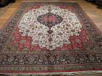 SIL1096 10X13 PERSIAN QUOM RUG