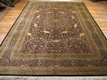 SIL1157 8X12 PERSIAN GONBAD QUOM RUG