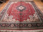 SIL1159 10X13 PERSIAN QUOM RUG