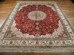 SIL1227 8X10 PURE SILK CHINESE RUG