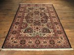 SIL204 5X8 FINE PERSIAN GONBAD ISFAHAN RUG