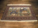 SIL205 5X8 FINE PERSIAN PICTORIAL ISFAHAN RUG